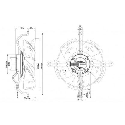 Осевой вентилятор S3G400LA4692 S3G400-LA46-92