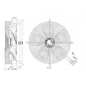 Вентилятор S3G450AO0232  S3G450-AO02-32