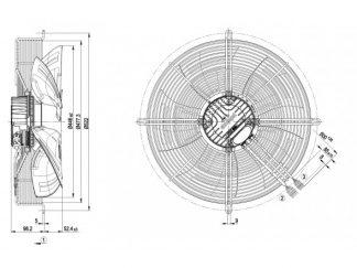 Осевой вентилятор S3G450LL03H1 S3G450-LL03-H1
