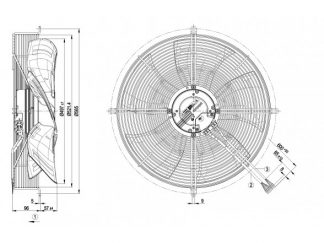 Вентилятор S3G500AF4851  S3G500-AF48-51