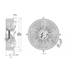Осевой вентилятор S3G560AQ4102 S3G560-AQ41-02