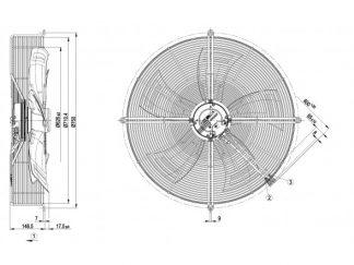 Вентилятор S3G630AD03A1  S3G630-AD03-A1