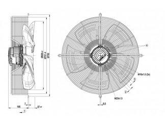 Вентилятор S3G630AE5551  S3G630-AE55-51