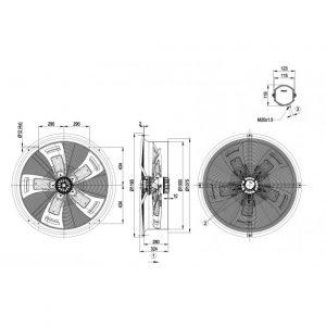 Вентилятор W6D990CX0183  W6D990-CX01-83